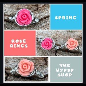 Beautiful spring rose ring.
